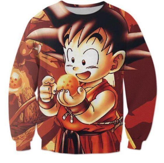 Kid Goku Dragon Ball 7 Stars Cute 3D Print Sweatshirt - Saiyan Stuff