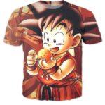 Kid Goku Dragon Ball 7 Stars Cute 3D Print T-Shirt - Saiyan Stuff