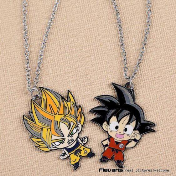Kid Goku Super Saiyan Cute Metal Pendant Necklace - Saiyan Stuff