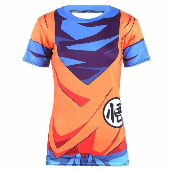 King Kai Training Go Symbol Goku Namek Uniform 3D Women Fitness T-Shirt