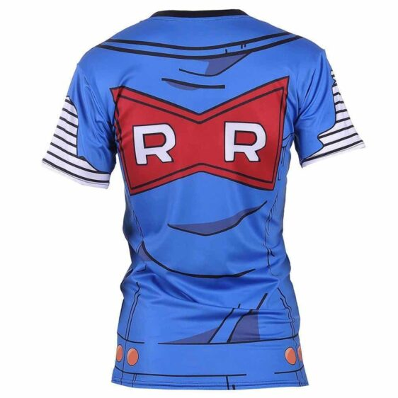 Lazuli Android 18 Blue Outfit Red Ribbon Army 3D Women Gym T-Shirt