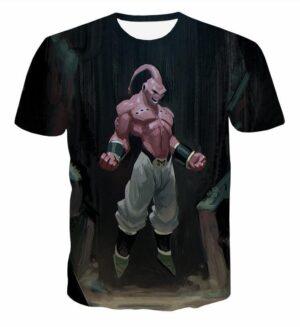 Majin Buu Pure Evil Black Painting Graffiti Art 3D T-Shirt - Saiyan Stuff