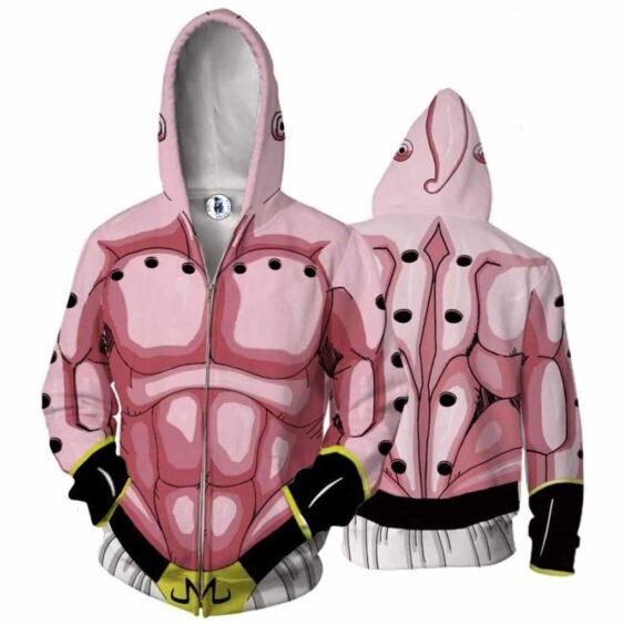Majin Buu Skin Pink Zip Up Cosplay 3D Hoodie