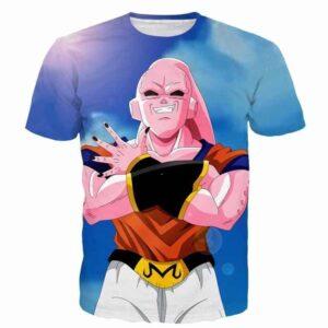 Majin Buu Wearing Goku Clothes Blue 3D Fashion T- Shirt - Saiyan Stuff