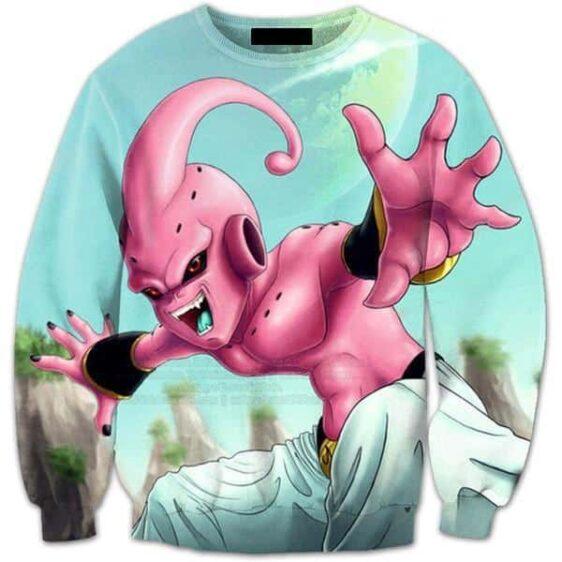 Majin Kid Buu Creature Streetwear Trendy 3D Full Print Sweatshirt - Saiyan Stuff