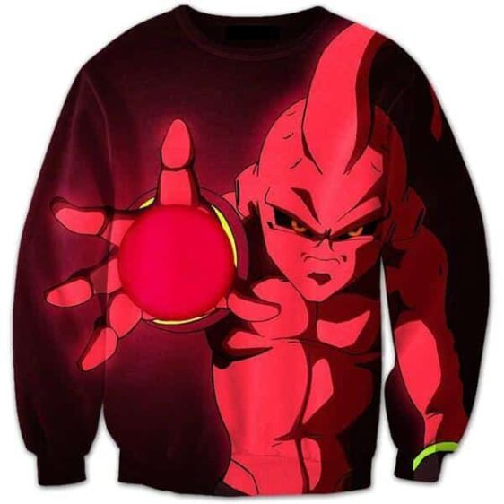 Evil Kid Buu Ultimate Cannon Energy Sphere Attack 3D Sweatshirt - Saiyan Stuff