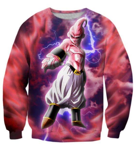 Majin Ultimate Mighty Kid Buu Lightning Amazing 3D Sweatshirt - Saiyan Stuff
