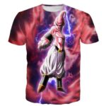 Majin Ultimate Mighty Kid Buu Tie Dye Lightning Amazing 3D T- Shirt - Saiyan Stuff