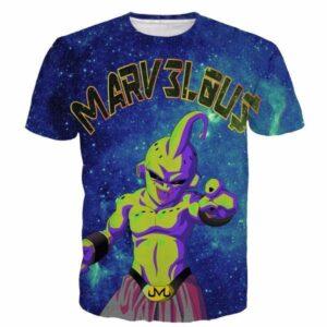 Marvelous Majin Buu Galaxy Space Dragon Ball Villain 3D T- Shirt - Saiyan Stuff