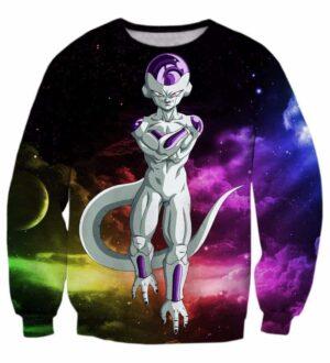 Mighty Frieza Flying Space Galaxy Swag Black Ultimate 3D Sweatshirt - Saiyan Stuff
