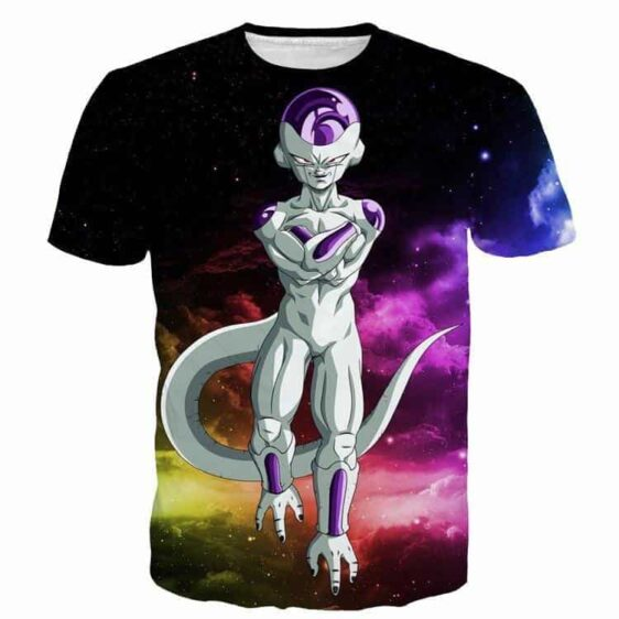 Mighty Frieza Flying Space Galaxy Swag Black Ultimate 3D T-Shirt - Saiyan Stuff