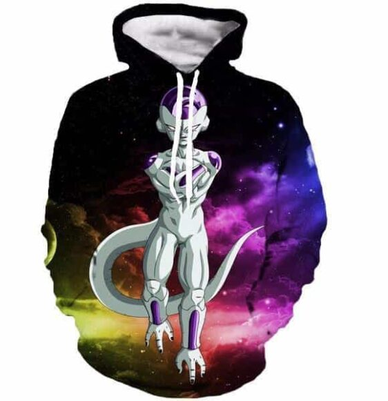 Mighty Frieza Flying Space Galaxy Swag Final Form 3D Hooded Sweatshirt - Saiyan Stuff