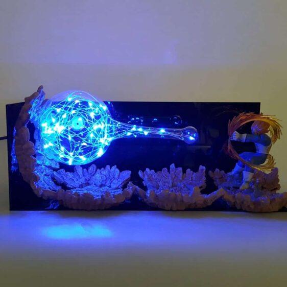 DBZ Super Saiyan Vegeta Super Galick Gun Flash Ball DIY 3D LED Light Lamp