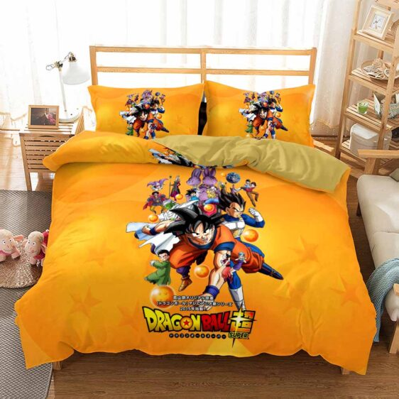 Dragon Ball Super Characters Design Yellow Bedding Set