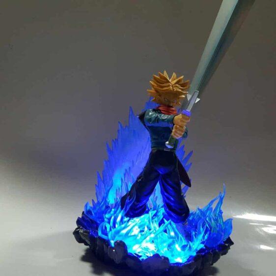 DBZ Future Trunks Super Saiyan Tapion Sword Blue Aura DIY 3D Light Lamp