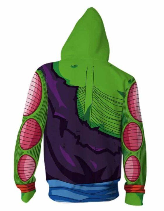 Piccolo Ma Junior DBZ Zip Up Cosplay 3D Hoodie