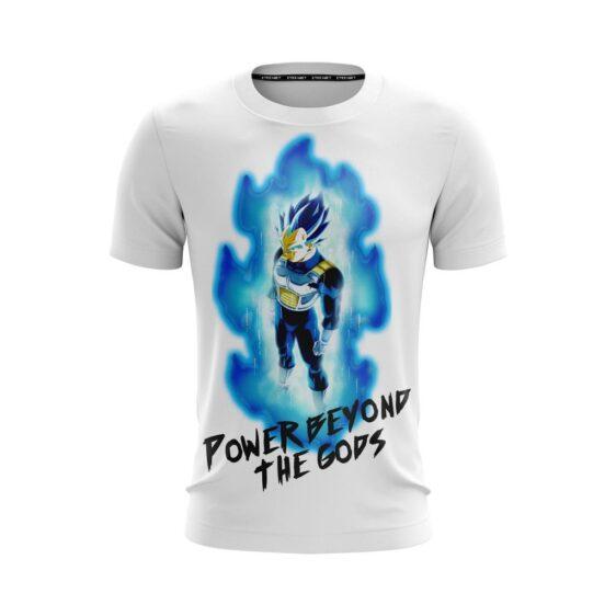 Vegeta Power Beyond The Gods White Dragon Ball Z T-Shirt