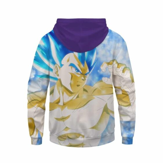 DBZ Son Goku Ultra Instinct & Vegeta SSJ Blue Zip Up Hoodie