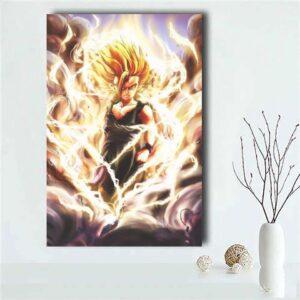 DBZ Super Saiyan 2 Epic Teen Gohan Black 1pc Canvas Print