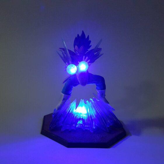 DBZ Vegeta Prince Of Saiyan Radiant Galick Gun Blue DIY 3D LED Light Lamp