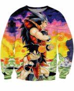 Raditz and Space Pirate Turles Saiyan Warriors Artwear 3D Sweatshirt - Saiyan Stuff