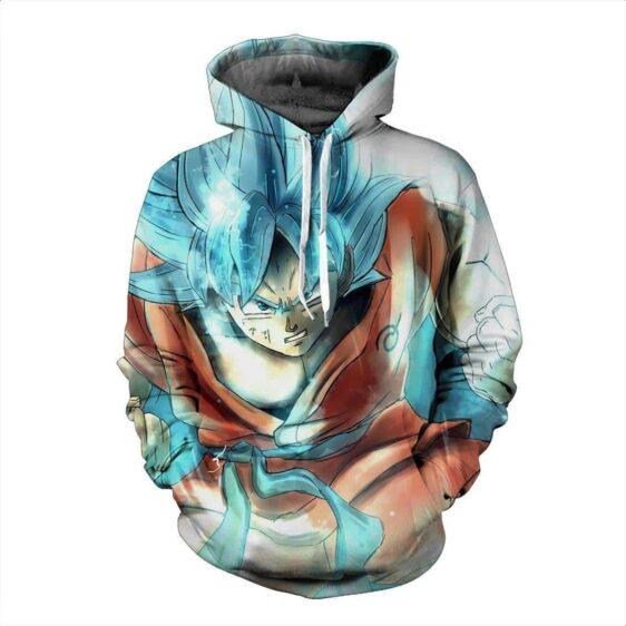 Resurrection F DBZ Super Saiyan Blue Goku Painting Artwork 3D Hoodie