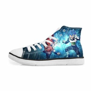 Resurrection F Super Saiyan Blue Goku Vegeta Sneakers Converse Shoes