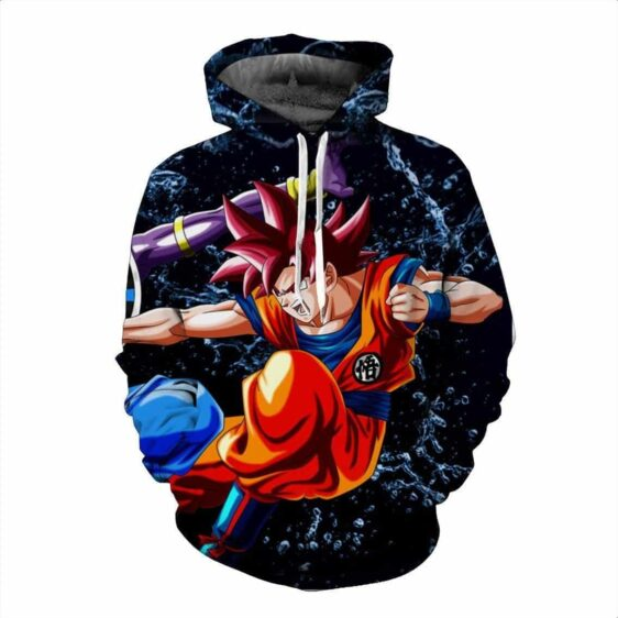 Battle Beerus God of Destruction Goku Super Saiyan Fighting Cool Hoodie