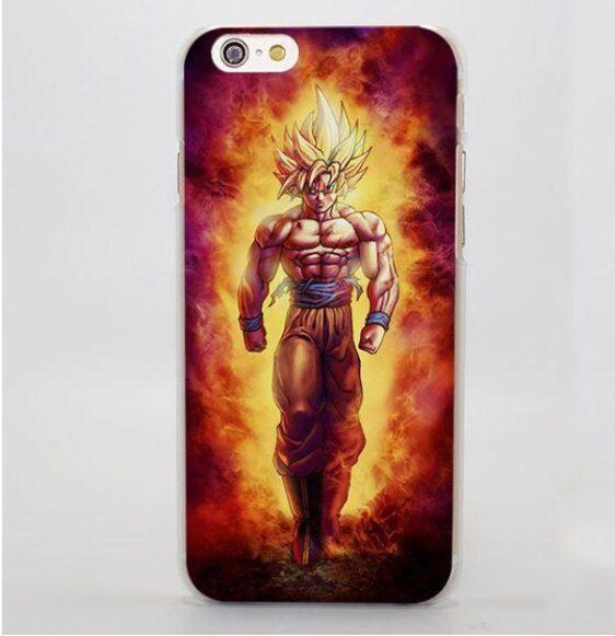SSJ2 Super Saiyan Goku Flame Fire Cool iPhone 5 6 7 Plus Case