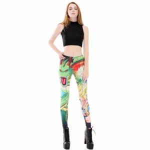 Shenron Goku Super Saiyan Women Compression Fitness Leggings Tights - Saiyan Stuff - 1