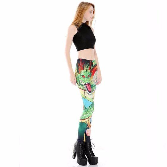 Shenron Goku Super Saiyan Women Compression Fitness Leggings Tights - Saiyan Stuff - 3