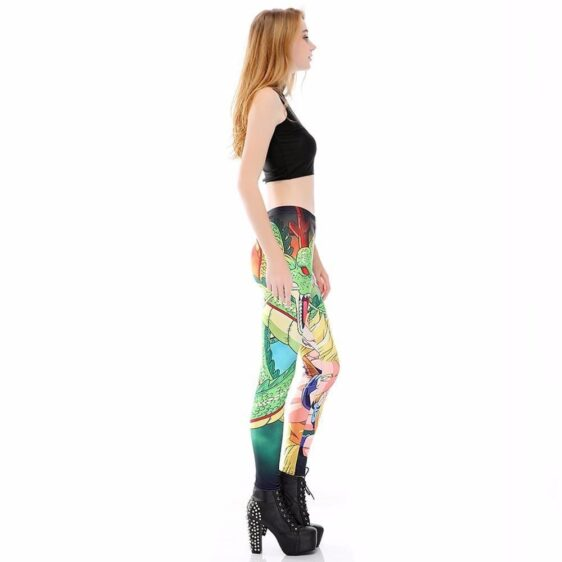 Shenron Goku Super Saiyan Women Compression Fitness Leggings Tights - Saiyan Stuff - 5