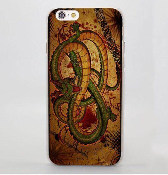 Shenron Vintage Brown Dragon Ball iPhone 5 6 7 Plus Case Cover