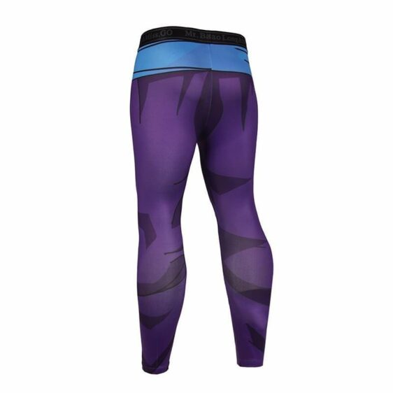 Son Gohan Purple Black Waist Fitness Gym Compression Leggings Tights - Saiyan Stuff - 2