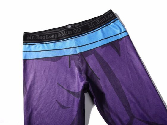 Son Gohan Purple Black Waist Fitness Gym Compression Leggings Tights - Saiyan Stuff - 3
