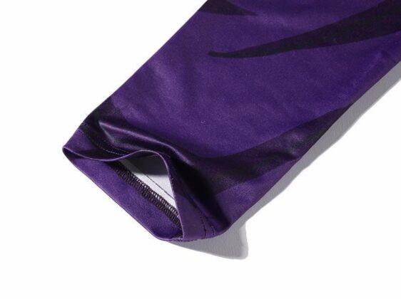 Son Gohan Purple Black Waist Fitness Gym Compression Leggings Tights - Saiyan Stuff - 5