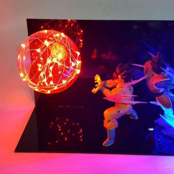 Son Goku vs Vegeta Fighting Flash Ball DIY LED Light Lamp