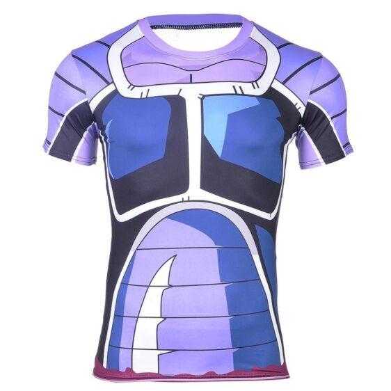 Space Pirate Saiyan Turles Battle Suit Armor 3D Fitness T-shirt