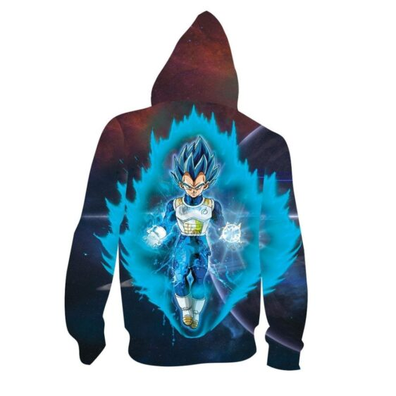 Super Saiyan Blue SSGSS Vegeta Blue Aura 3D Hoodie