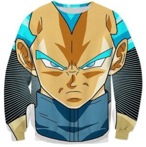 Super Saiyan God Super Saiyan Blue Vegeta Cool Sweatshirt - Saiyan Stuff