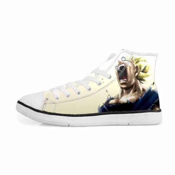 Super Saiyan Vegeta Angry Mad Cool Design Sneakers Converse Shoes