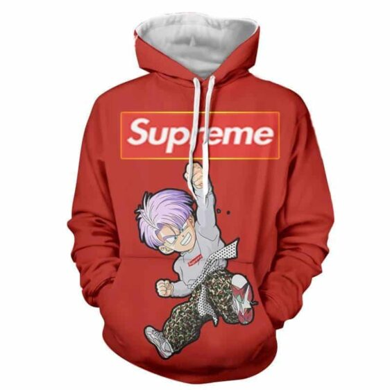 Supreme Kid Trunks Jumping Red Trendy Fashion Hoodie