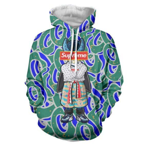Supreme Villain Perfect Cell Green Blue Streetwear Hoodie