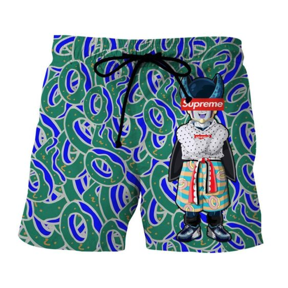 Supreme Villain Perfect Cell Green Blue Streetwear Shorts