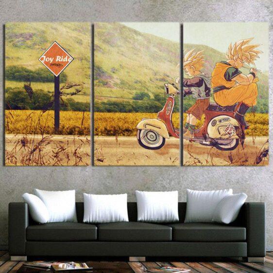 DBZ Goku And Gohan Joy Ride Awesome 3pcs Horizontal Wall Art Decor Canvas