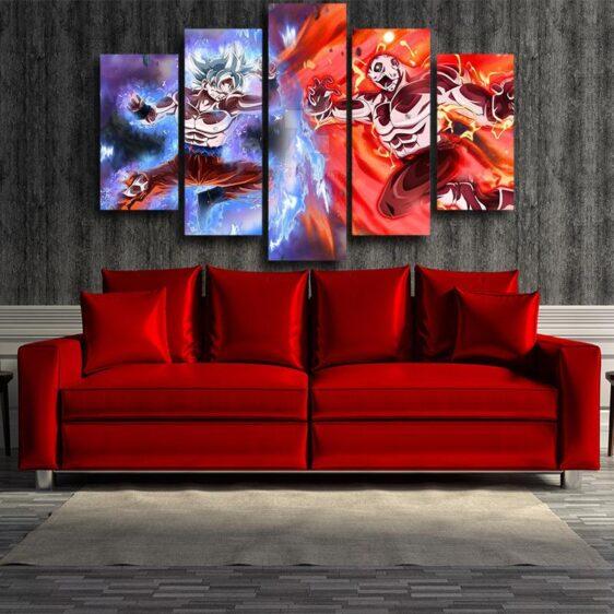 DBZ Goku Jiren Epic Battle 5pcs Wall Art Decor Canvas Prints