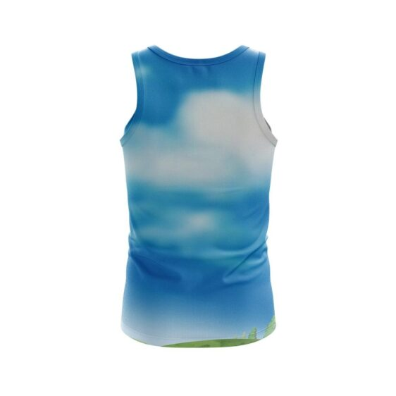 Dragon Ball Z Cute Chi Chi Newly Wed Couple Blue Tank Top
