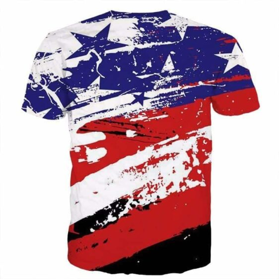 The Notorious B.I.G. Biggie Hip Hop DBZ Buu US Flag T- Shirt - Saiyan Stuff - 2
