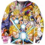 The Super Saiyan Kamehameha Attack Artwear Epic 3D Sweatshirt - Saiyan Stuff