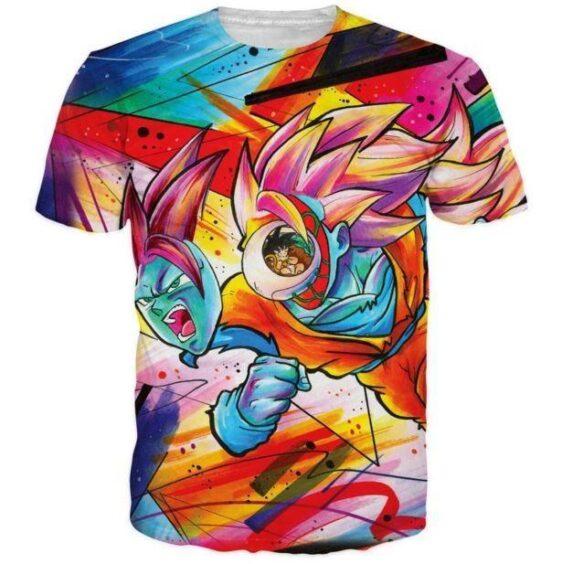 Tie Dye Graffiti Dragon Ball Goku SSJ3 3D T-Shirt - Saiyan Stuff